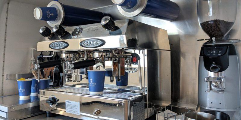 Coffee Dispenser and Machine in Coffee Van