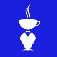 White on Blue Logo