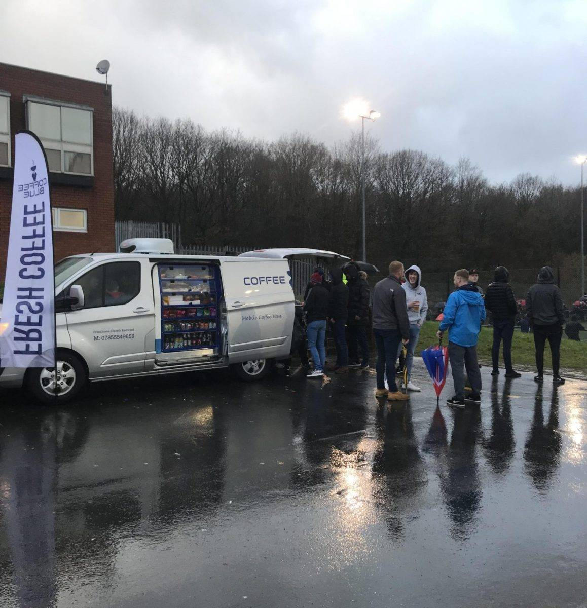 Coffee Blue in Caerphilly during an Event
