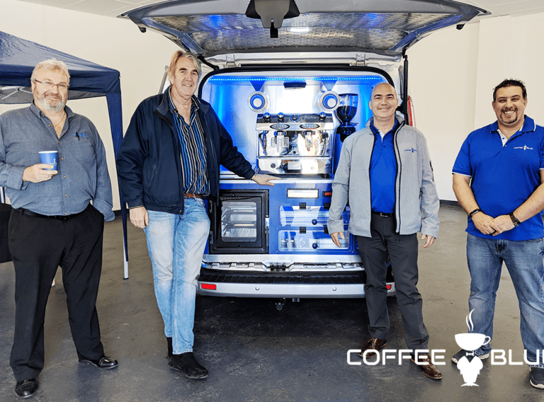 Martin and the Coffee Blue HQ team