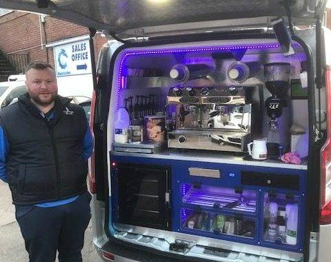 Gareth K from Coffee Blue with his van