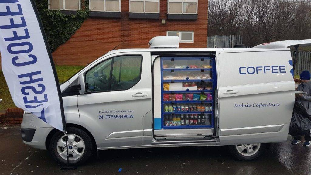 Catering van filled with sandwiches